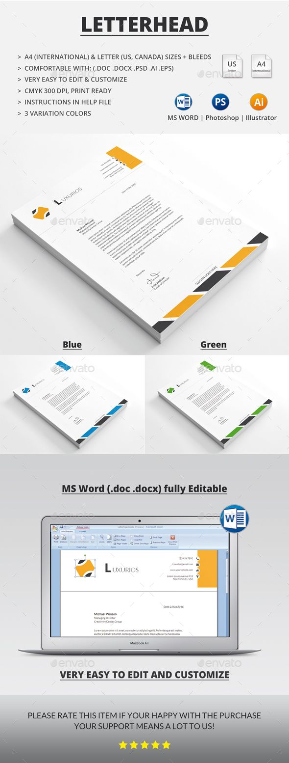 Professional Letterhead Templates Awesome 116 Best Letterhead Images On Pinterest  Letterhead Design .