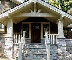 Craftsman Front Porch Steps Beautiful Bungalows