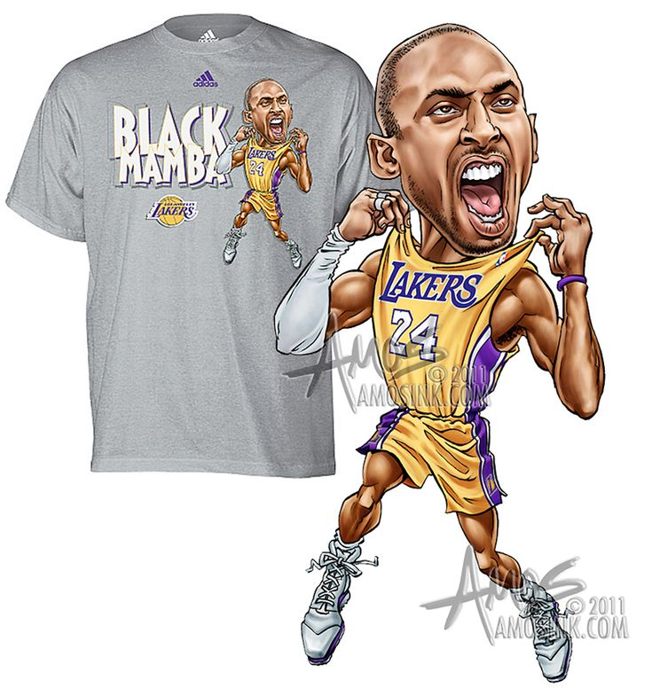Adidas, Kobe Bryant - Black Mamba caricature