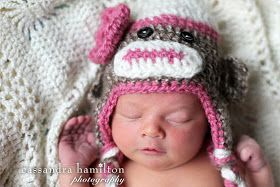 The Sequin Turtle: Free Crocheted Sock Monkey Hat Pattern