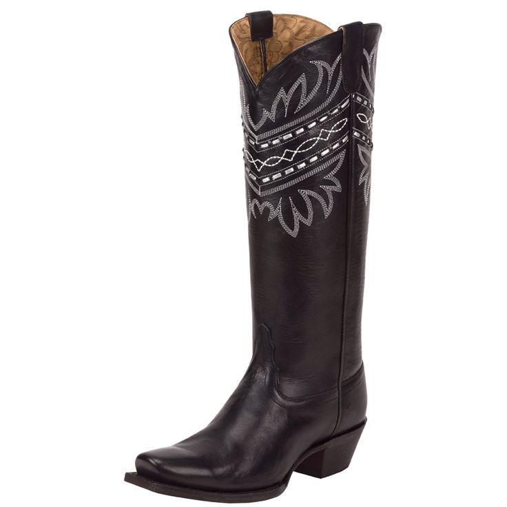 Women's Tony Lama 100% Vaquero Black Baja Cowgirls Boots