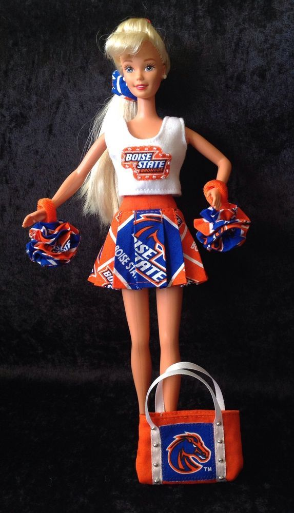 BARBIE BSU CHEERLEADER OUTFIT Boise State University Broncos US MADE Basketball