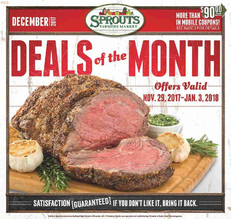 Sprouts Monthly ad November 29 – January 3, 2018 – Sprouts weekly ad becomes mainstream almost each week but sometimes people see the Sprouts ad and are generally quick to throw it out. Checking the ads just about every week and clipping out your coupons which come while in the weekly circulars ad can in reality be an extremely rewarding experience. Sprouts regularly includes coupons which may equate his almost as much ast 50% off your purchase. This means that yo