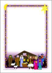 Christmas A4 page borders 2 (SB3524) - SparkleBox
