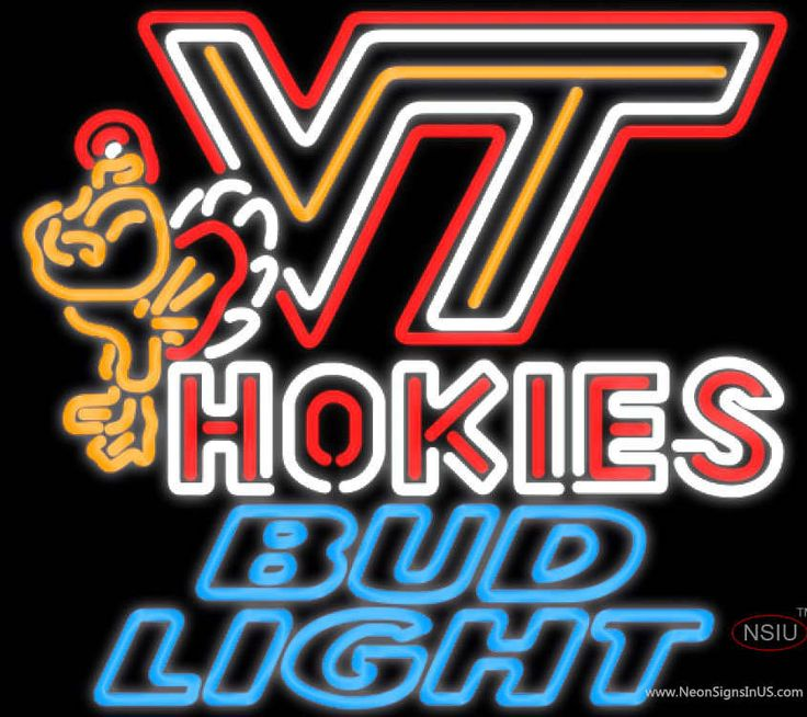 Bud Light Neon Virginia Tech Vt Hokies Logo Hockey Real Neon Glass Tube Neon Sign,Affordable and durable,Made in USA,if you want to get it ,please click the visit button or go to my website,you can get everything neon from us. based in CA USA, free shipping and 1 year warranty , 24/7 service