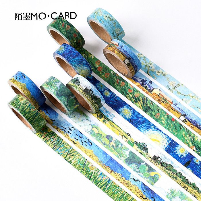 1 pcs Washi Tapes DIY Van Gogh Painting paper Masking tape Decorative Adhesive Tapes Scrapbooking Stickers Size 15 mm*7m-in Office Adhesive Tape from Office & School Supplies on Aliexpress.com | Alibaba Group