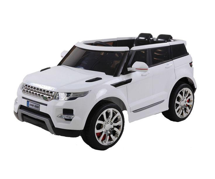 Carros Eléctricos para Niños Camioneta Tipo Land Rover Blanca, regalale a tu hijo el lujo de subirse y manejar una camioneta Land Rover, es un modelo original, cuenta con acelerador y freno.