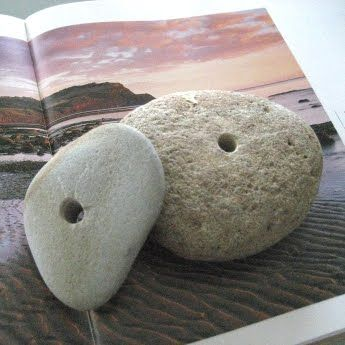 how to drill holes in beach rocks (why? because then you could thread them onto a post in the ground and make those towering piles of rocks)