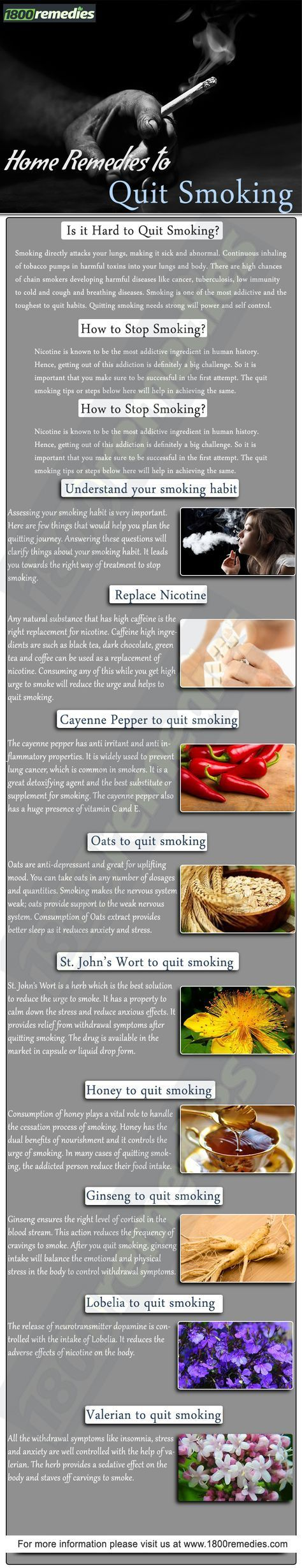 Home remedies to help quit smoking