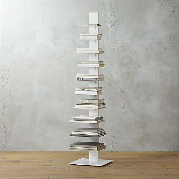 array white bookcase