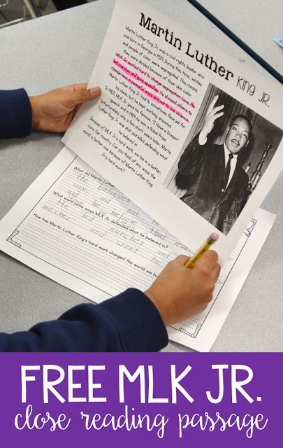 Want to teach your first and second graders all about MLK Jr.?? Grab this FREE Martin Luther King Jr. close reading passage with vocabulary and comprehension questions!