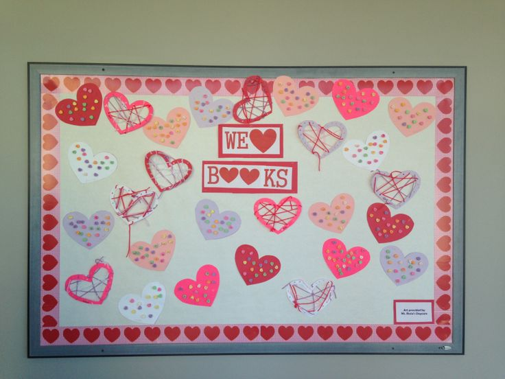 Valentines Day bulletin board   Valentine's Day   Pinterest