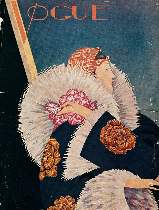 Vogue UK, January 1927 cover | Illustration by George Plank