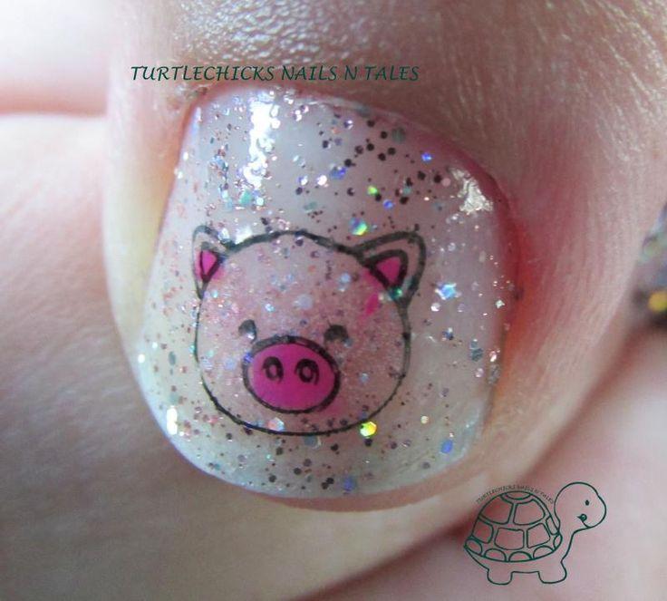piggy stamper decal nails