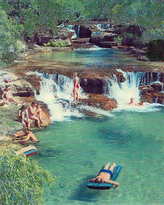 Twin Falls top of Cape York Peninsula, Bamaga, Queensland_ East Australia