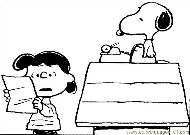 42 best Peanuts coloring pages images on Pinterest