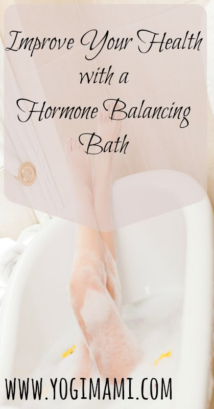 Learn how to make a hormone balancing bath using Epsom salts and aromatherapy to naturally improve health and wellness.
