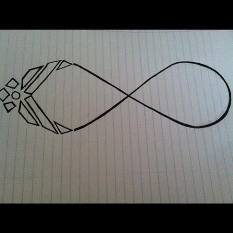 air force infinity sign -- beautiful tattoo idea This but in the middle where the two loops meet pointing straight up