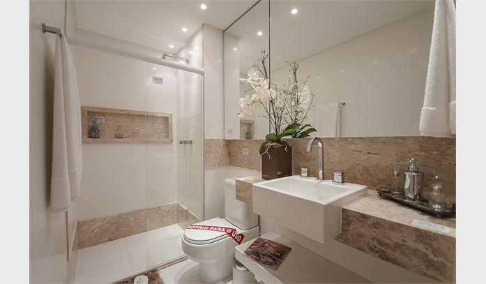 banheiro social  Pesquisa Google  Idéias  apê  Pinterest -> Lavatorio Banheiro Moderno