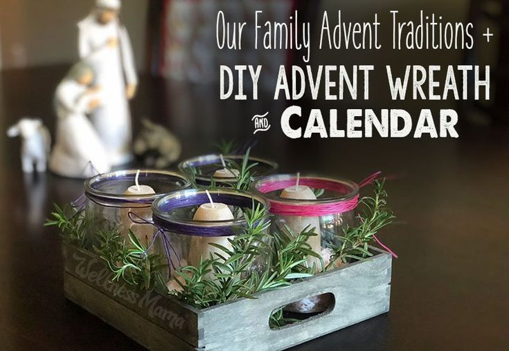 Our Family Advent Traditions with DIY Advent Wreath and Calendar