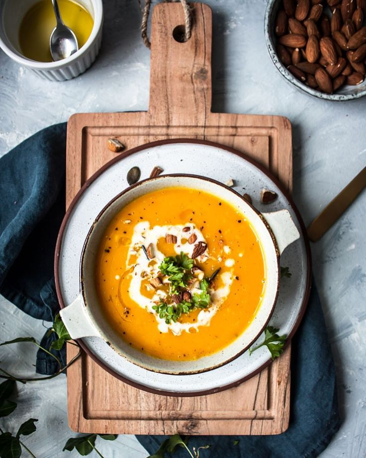 "310 Likes, 12 Comments - Denisa K. (@denisakusnirova) on Instagram: ""Hey foodies! I just shared a new recipe for this delicious Roasted Pumpkin Apple Soup on my blog…"""