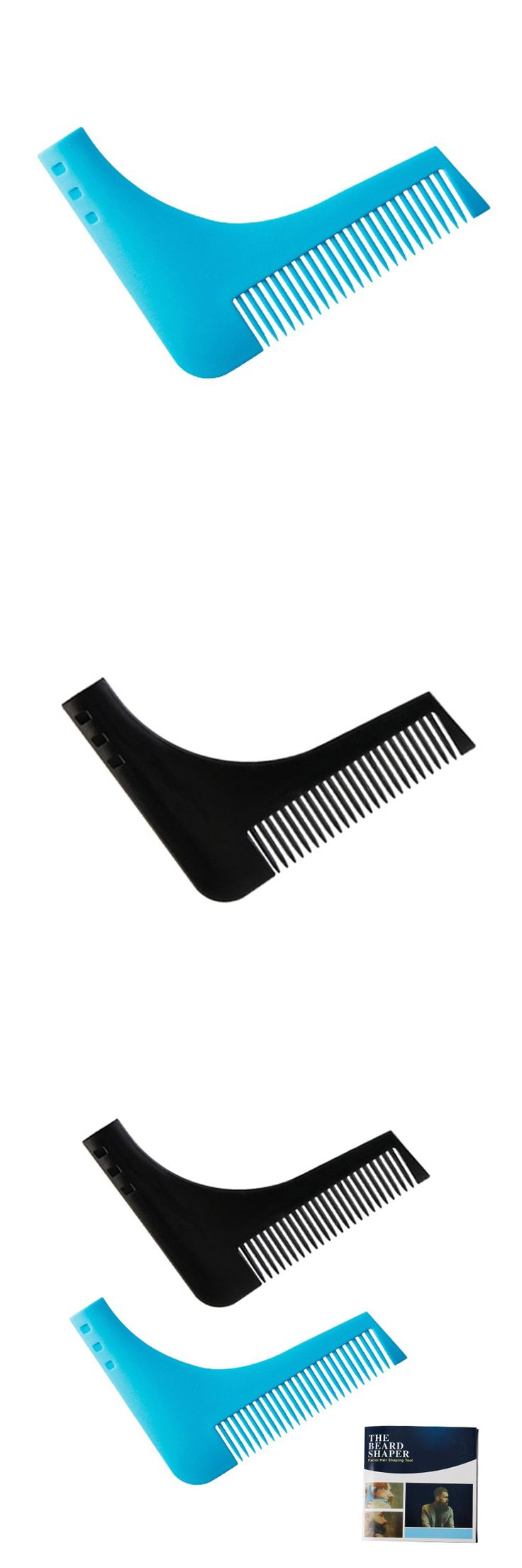 Durable Plastic Men Beard Trimmer Comb 2 Colors Gentleman Beard Shaving Molding Combs Template Trimming Tools Easy To Use