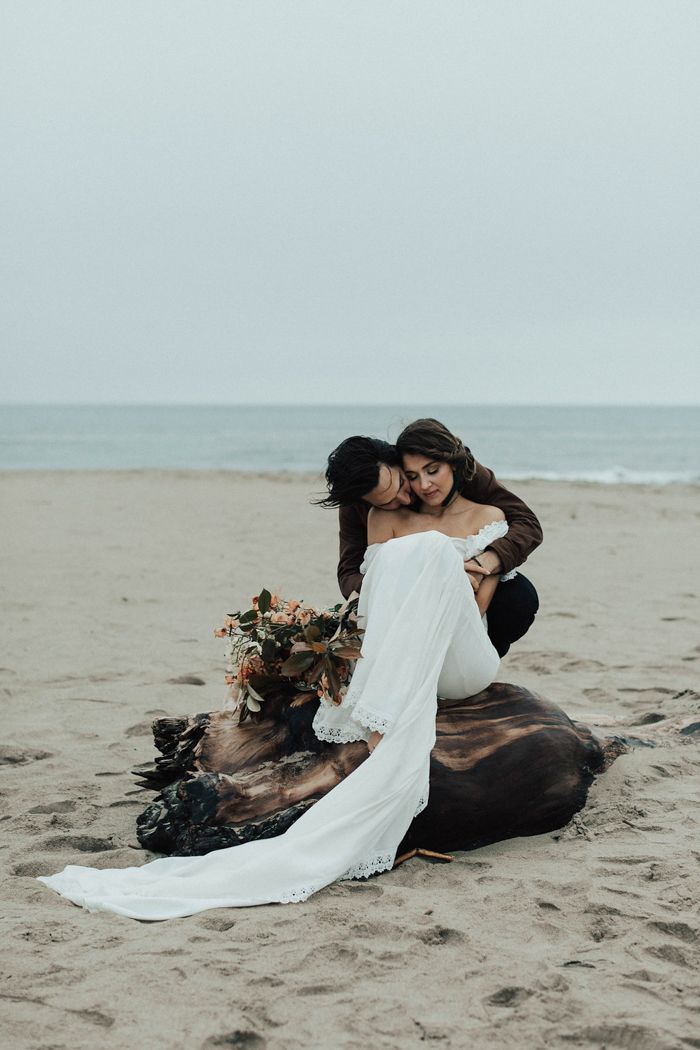This Northern California beach is the perfect location for a romantic elopement | Image by Michelle Larmand Photography