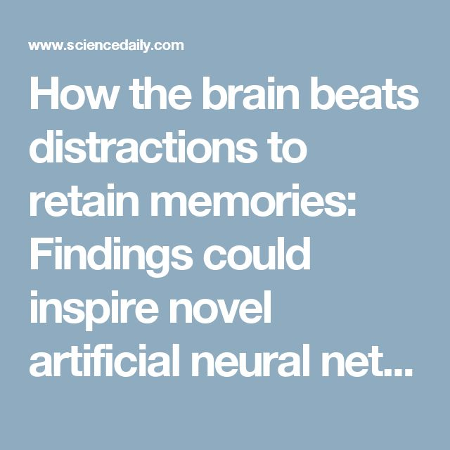 How the brain beats distractions to retain memories: Findings could inspire novel artificial neural network architectures modeled after the brain -- ScienceDaily