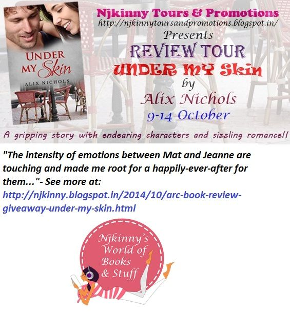 #ARCBookReview #UnderMySkin by @Aalix_Nichols Also enter #Giveaways to win $15 Amazon GC and print copies of the book!  http://njkinny.blogspot.in/2014/10/arc-book-review-giveaway-under-my-skin.html #BlogTour #Romance #Excerpt