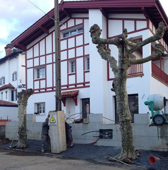 L'entreprise Castagnet à construit cette villa en brique Monomur à Saint Jean de Luz en 2014