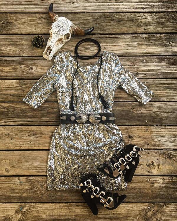 Shine on Pretty Lady! - COWGIRL Magazine-I like it, but not with the belt and necklace.