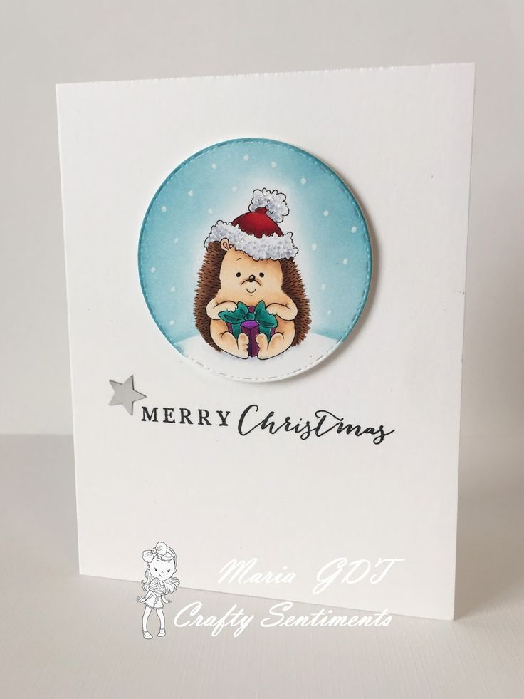 One of my latest cards for Crafty Sentiment Designs #theunexpectedcrafter #craftysentimentsdesigns #digitalimages #christmas #hedgehog www.theunexpectedcrafter.blogspot.com