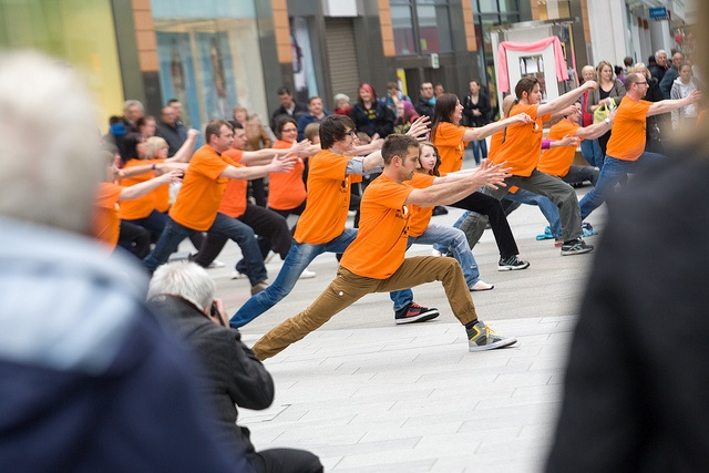 Shoppers at The Centre, Livingston were treated to a surprise performance as more than 35 traditional Korean martial arts students from Kuk Sool Won of Livingston emerged from the crowds to take part in an 'MS FIGHTBACK' flashmob to mark MS Week (30 April to 6 May) and honour the 10,500 people living with MS in Scotland.    Join the Fightback by donating at www.msfightback.org.uk    ©DN Anderson