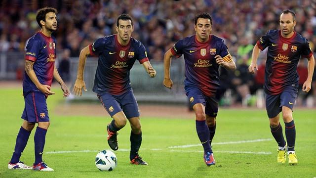 Four Blaugrana midfielders shortlisted for l'Onze Mondial FIFA/FIFPro 2012 | FC Barcelona