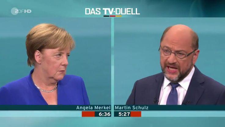 Das TV Duell  Angela Merkel VS Martin Schulz Wahlkampf 2017