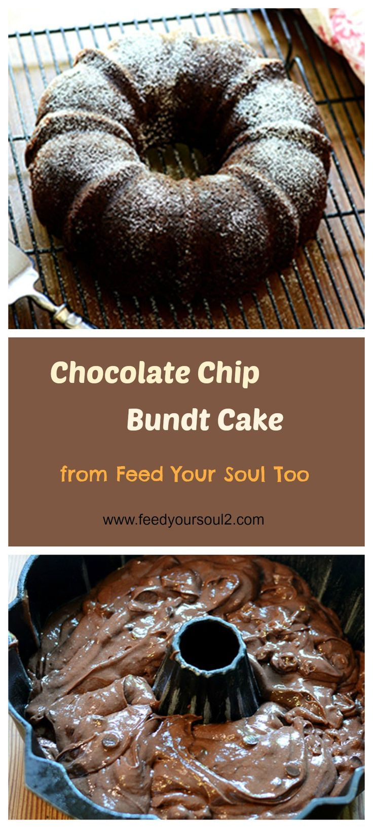 Chocolate Chip Bundt Cake from Feed Your Soul Too