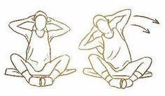 """Movimentos para afinar a cintura e para se livrar dos """"pneuzinhos""""Se deseja modelar a cintura, eliminando os """"pneus"""" decorrentes do excesso de gordura abdominal, faça os seguintes exercícios:1.Em p..."""