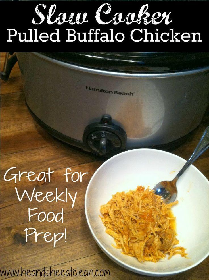 of Crock Pot Buffalo Chicken! It's perfect alone or in lettuce wraps ...