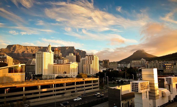 Sunset over Cape Town CBD. #sunset #business #SouthAfrica | www.savisas.com |