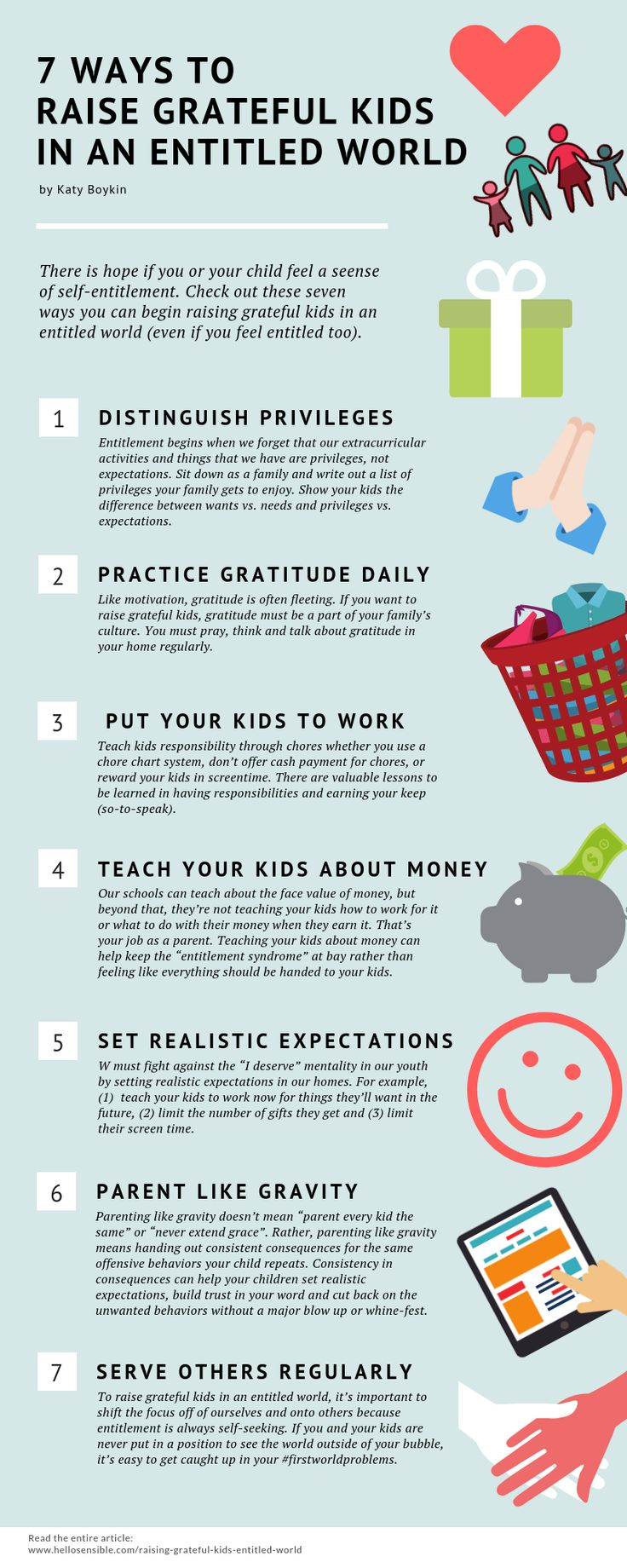 7 Ways to Raise Grateful Kids in an Entitled World