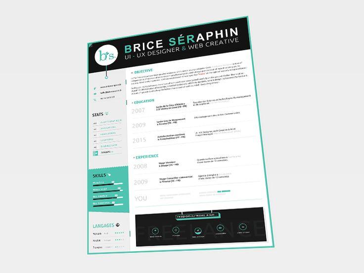 9 best Resume design images on Pinterest Cv ideas, Resume design - my personal resume