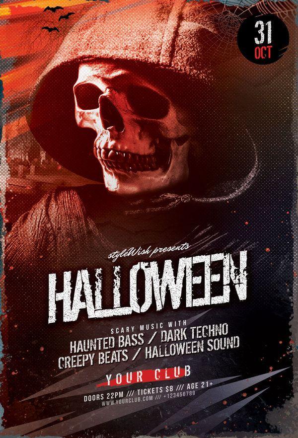 Ponad 1000 pomysłów na temat Halloween Party Flyer na Pintereście - halloween party flyer