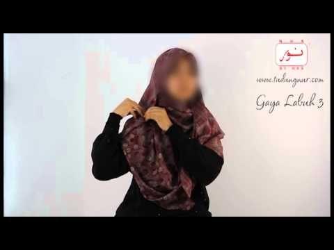▶ Tutorial Gaya Labuh (3) Tudung Nur - YouTube