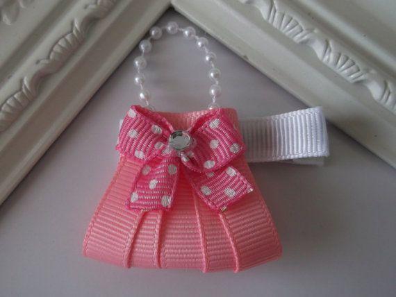 Purse Ribbon Sculpture Hair ClipGirl Purse Hair by creationslove