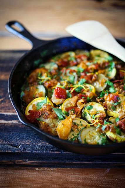 Rustic Zucchini Tian- a vegan/ gluten free baked summer squash dish, with a homemade rustic tomato sauce with caramelized onions, garlic, cumin and coriander.