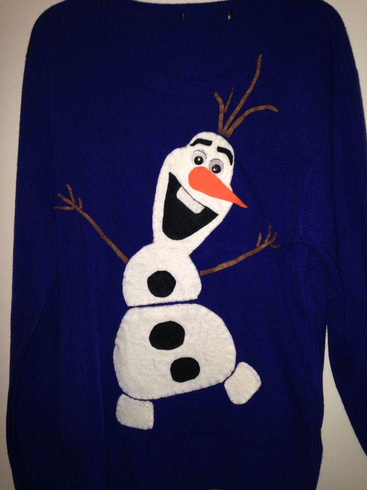 My Homemade Olaf Christmas Jumper
