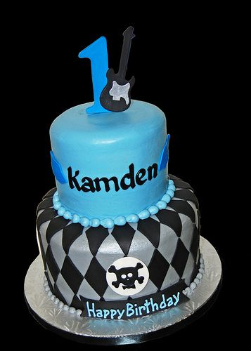 Blue And Black Boy Birthday Cake Google Search