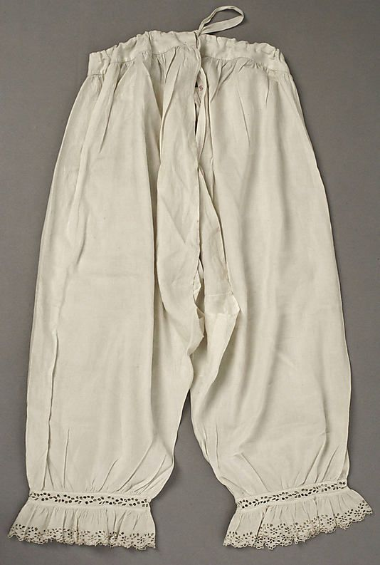 Underpants (Drawers)  Date: 1840s Culture: American or European