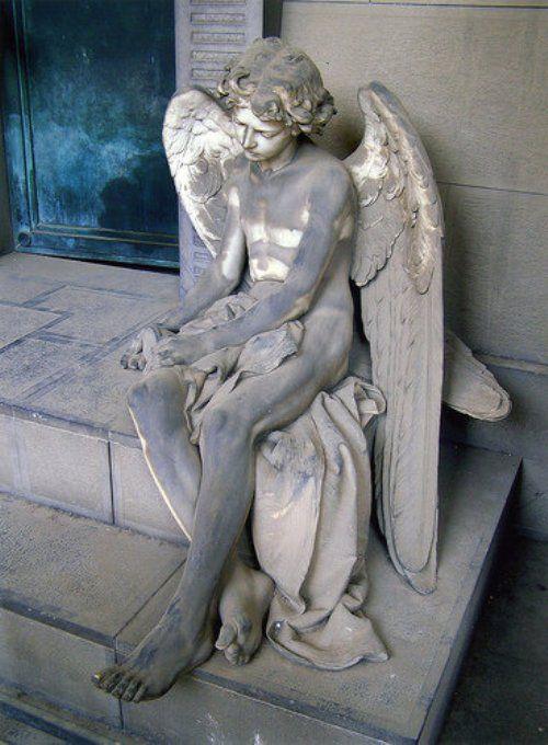 Angel, Monumental Cemetery of Staglieno, Genoa, Italy