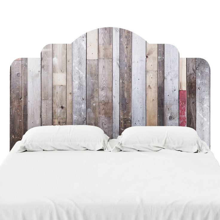 Distressed barn wood headboard decal headboard decal for Mural headboard